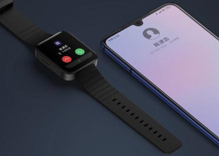 Xiaomi「Mi Watch」で通話している様子