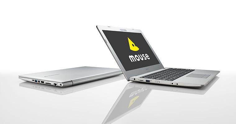 マウスがLTE対応の13.3型モバイルノートPC「MB13BCM8S2WL」を発売