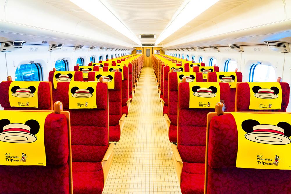 ミッキーマウスデザインの「Waku Waku Trip 新幹線」が運行開始