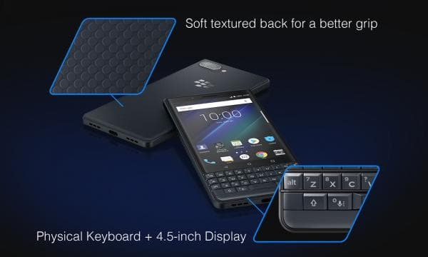 「BlackBerry KEY2 LE」のボディ