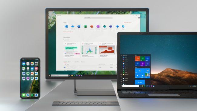 Officeのアイコンが新アイコンになった際のデスクトップのイメージ