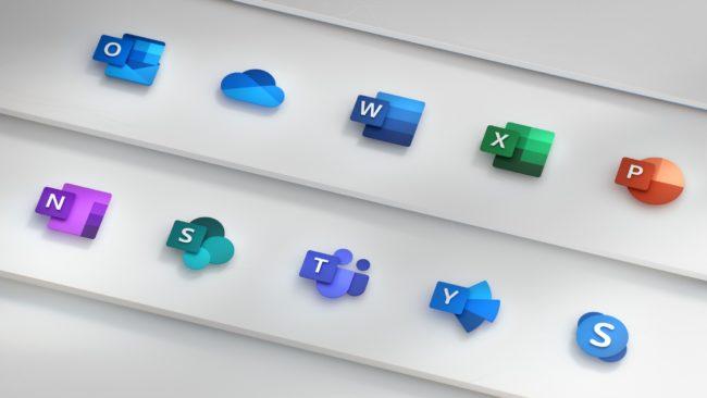 「Microsoft Office」の新しいアイコンが正式発表!より抽象的なデザインに