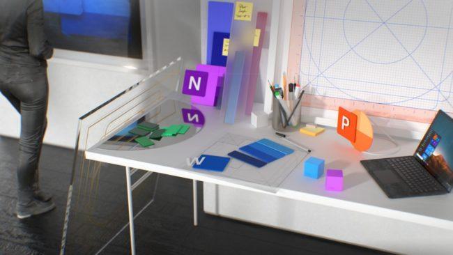 「Office」の新しいアイコンの開発風景のイメージ