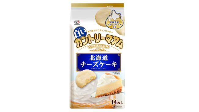 夏でも食べやすい味わいの「白いカントリーマアム 北海道チーズケーキ」が発売
