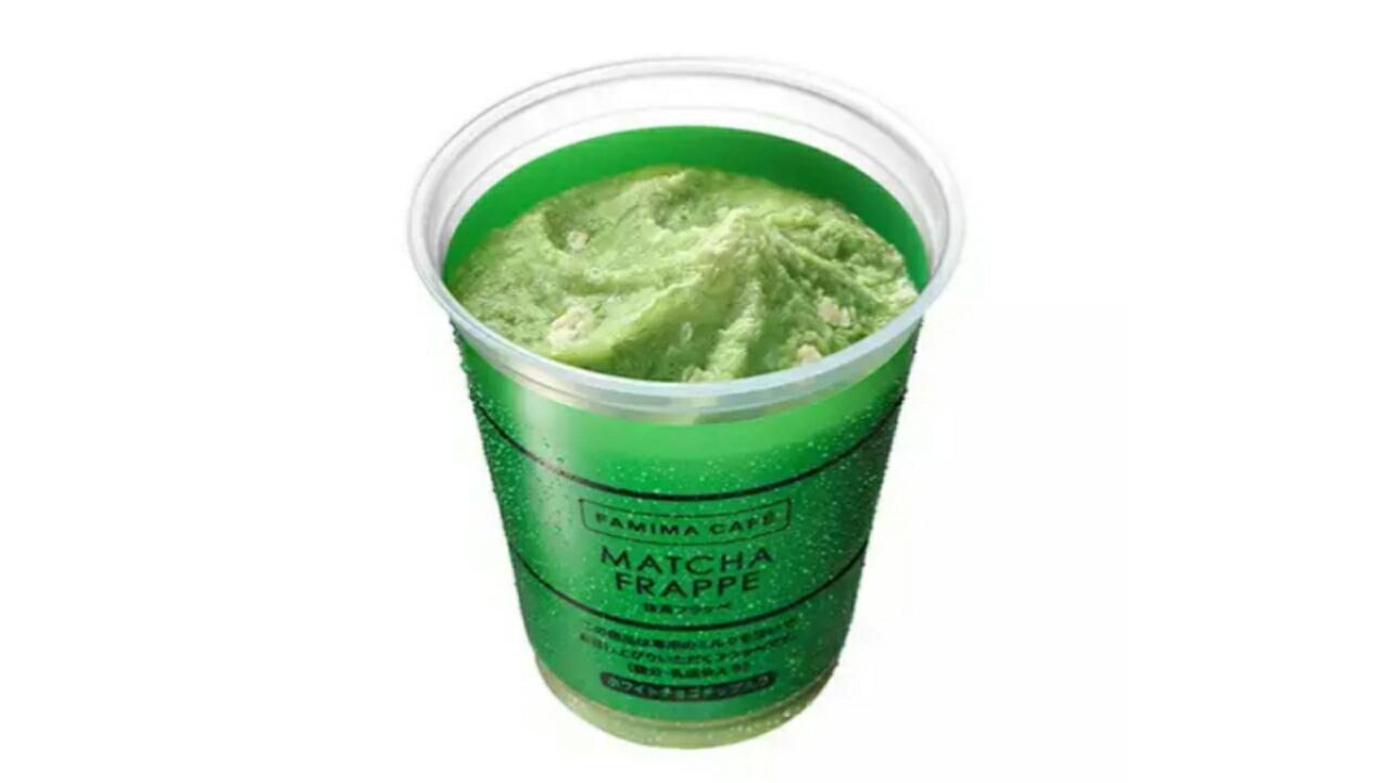 ファミマから「抹茶フラッペ」がホワイトチョコ入りに進化して発売!