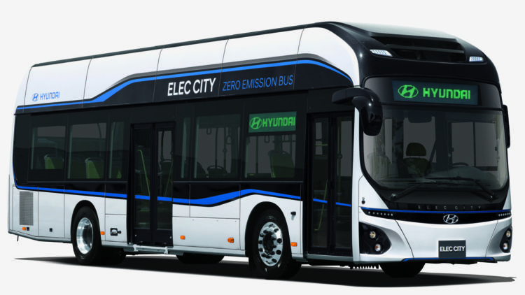 韓国ヒュンダイ、30分の充電で170km走れるEVバス「Elec City」を発表
