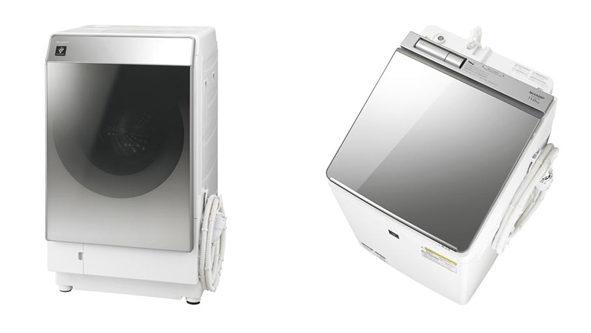 シャープ、プラズマクラスター洗濯乾燥機「ドラム式」と「タテ型」の2タイプを発売