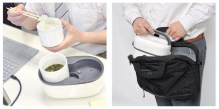 「お一人様用 ハンディ炊飯器」の使用例