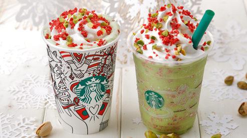 スタバが新作「キャンディー ピスタチオ フラペチーノ」を発売!クリスマスにぴったり