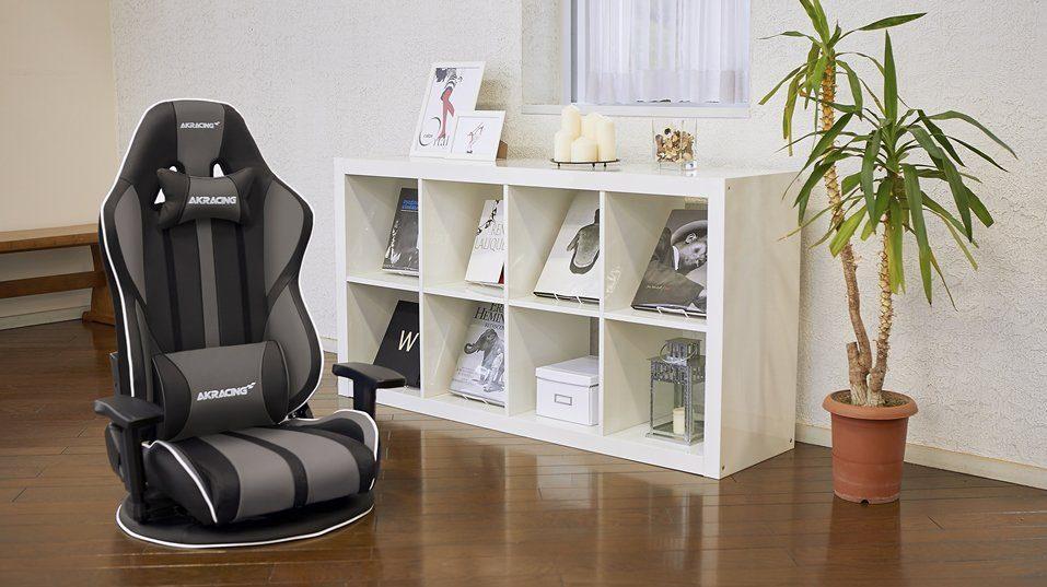 「AKRacing ゲーミング座椅子 極坐(ぎょくざ) V2」の使用イメージ