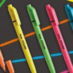 特殊な溝でキレイに線が引ける蛍光ペン「フィットライン」が新登場!