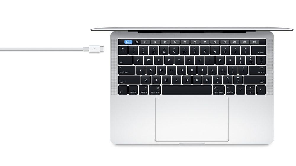 Thunderbolt 3(USB-C)ケーブル(0.8 m)