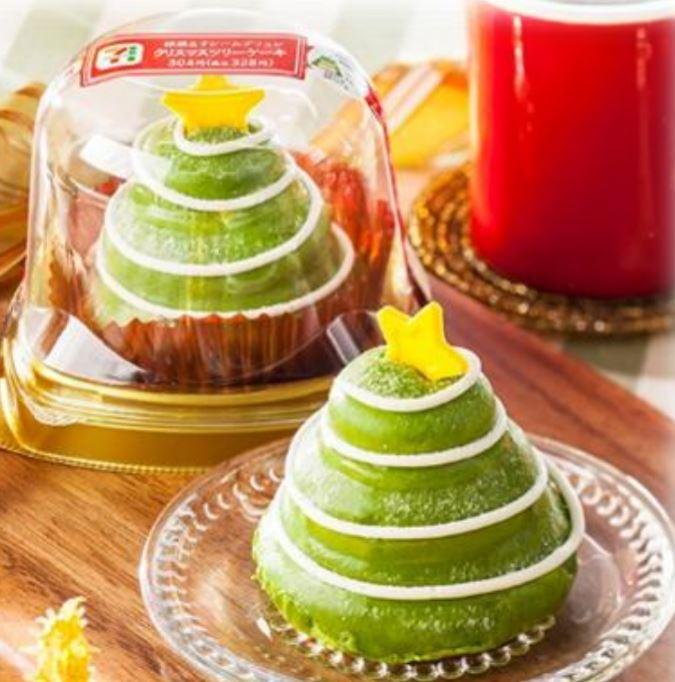 抹茶&クレームブリュレ クリスマスツリーケーキ