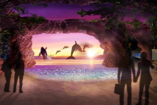 「DMMかりゆし水族館(仮称)」のイルカの展示イメージ