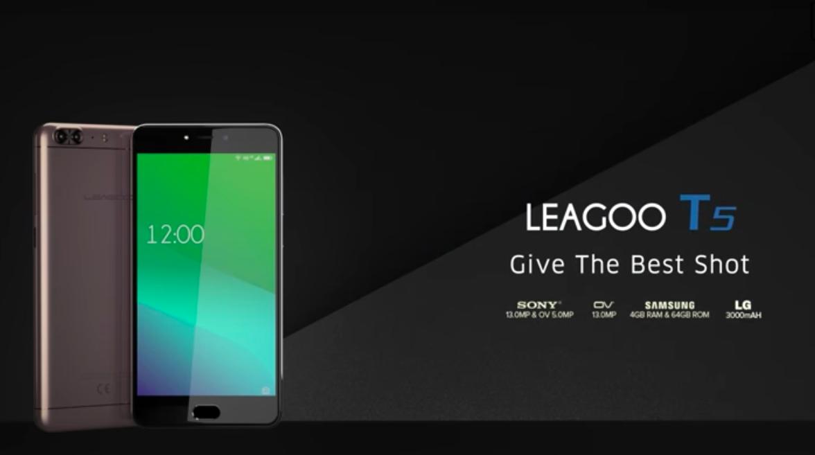 約1万円のコスパ最強SIMフリースマホ「Leagoo T5」が話題!指紋認証センサーも搭載