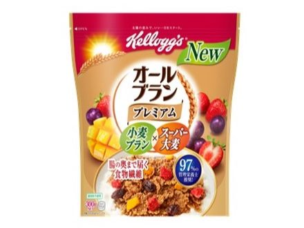 ケロッグが新製品「オールブラン プレミアム」を発売!食物繊維繊維をとれる