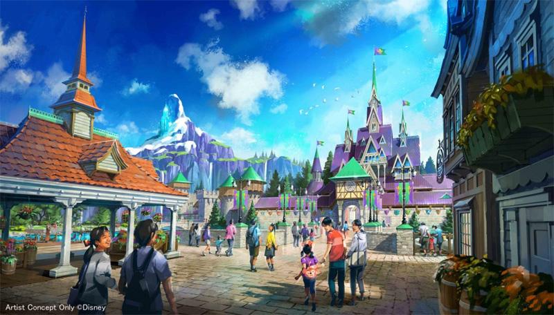 『アナと雪の女王』をテーマとしたエリアの完成イメージ
