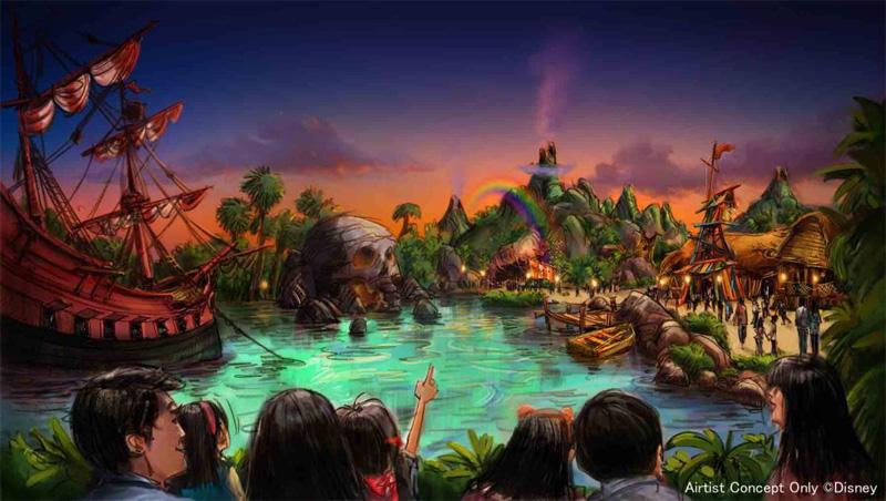 『ピーター・パン』をテーマとしたエリアの完成イメージ