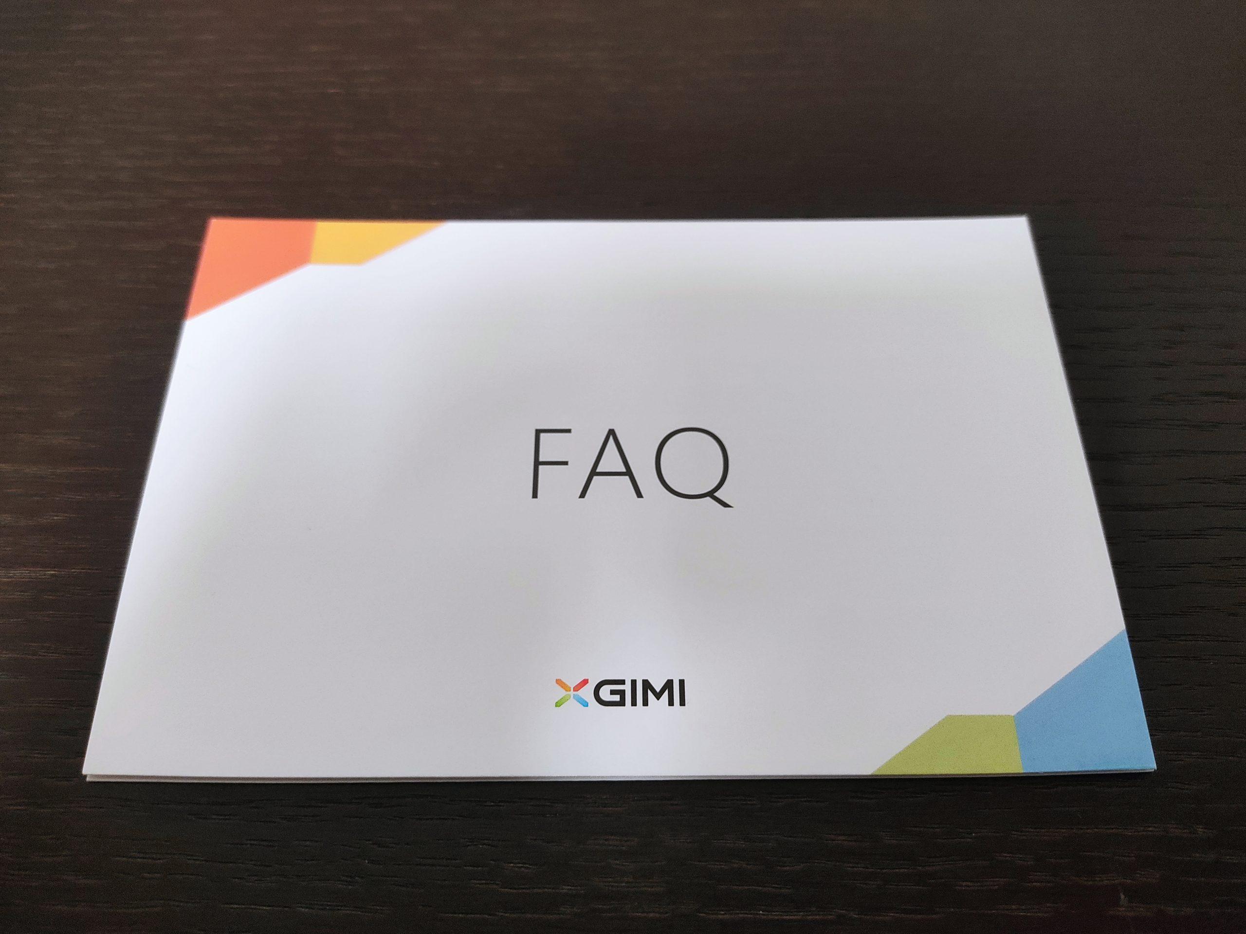 「XGIMI MoGo Pro+」のFAQカード