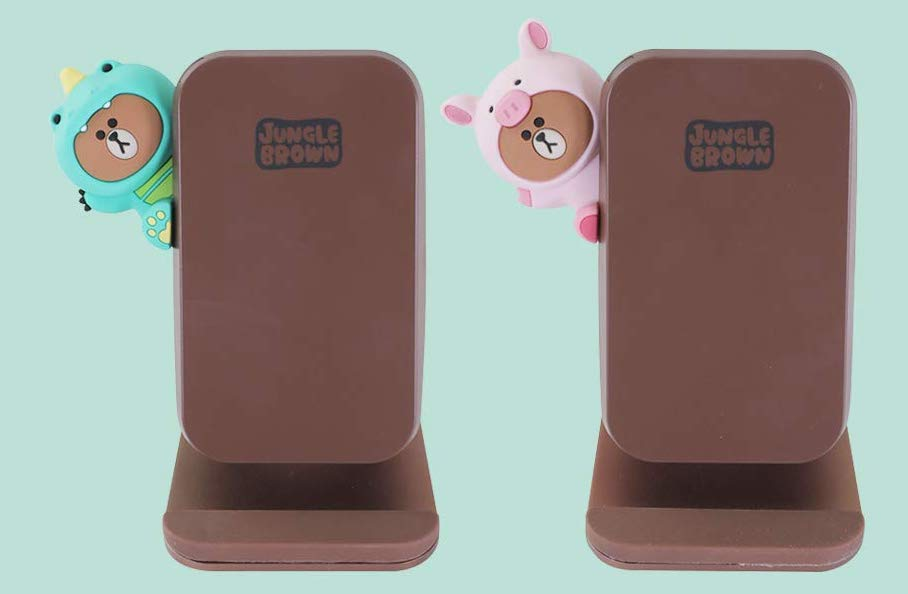 LINE FRIENDSのジャングルブラウンのワイヤレス充電スタンドが発売!