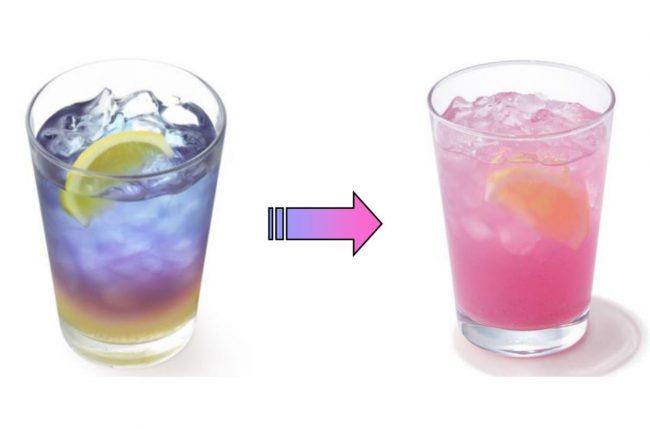 モスバーガー、色が変化するドリンク「ラベンダーレモネード」を発売