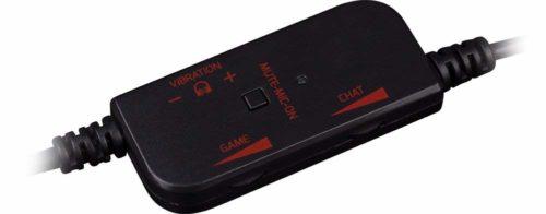 「マラウダー 7.1ch バーチャルサラウンドヘッドセット」の音量調整コントローラー