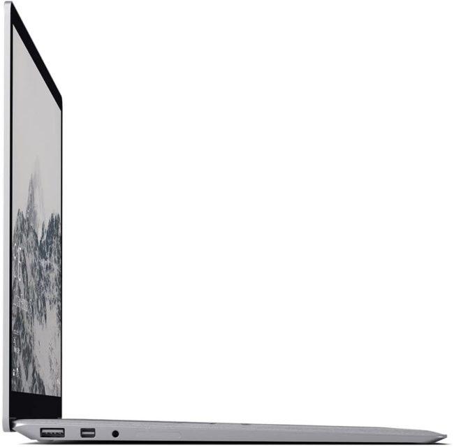 「Microsoft Surface Laptop」の側面