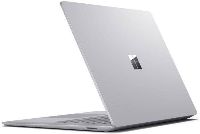 「Microsoft Surface Laptop」の天板部分