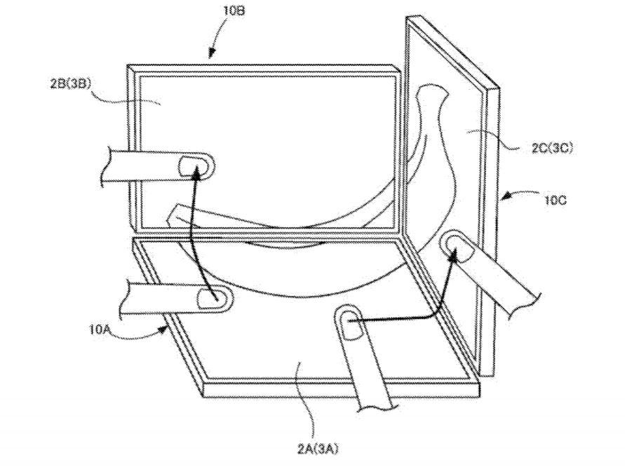 任天堂が複数のタッチパネルディスプレイを連携させる特許を提出