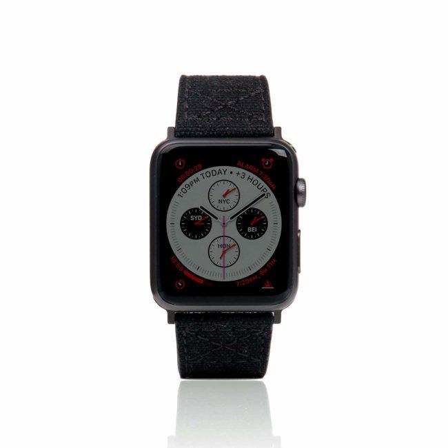 「Apple Watch バンド Wax Canvas」の装着イメージ