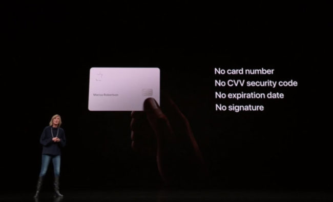 「Apple Card」の特徴