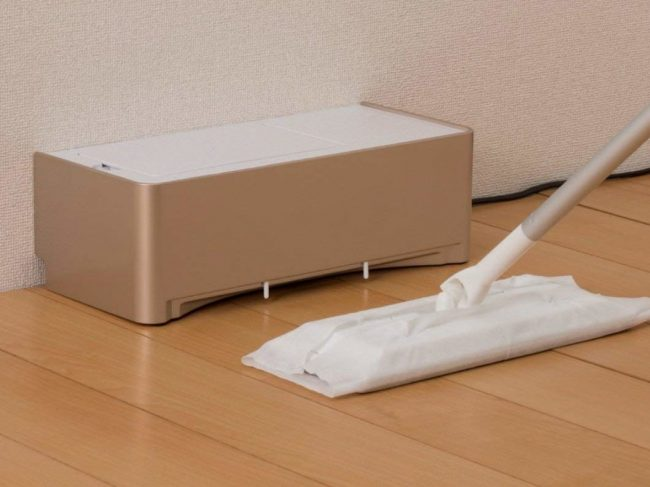 夜でも静かに掃除ができる「電気ちりとり ZN-DP24」が発売!フロアワイパーと合わせて使える