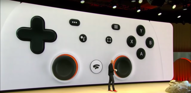 「Stadia Controller」のボタン