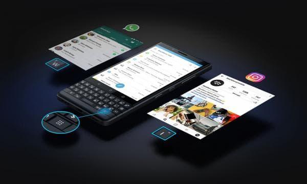 「BlackBerry KEY2 LE」のキーボード
