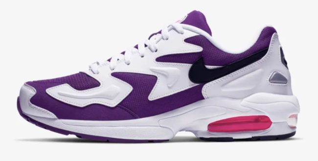 「AIR MAX2 LIGHT Purple Berry」の側面