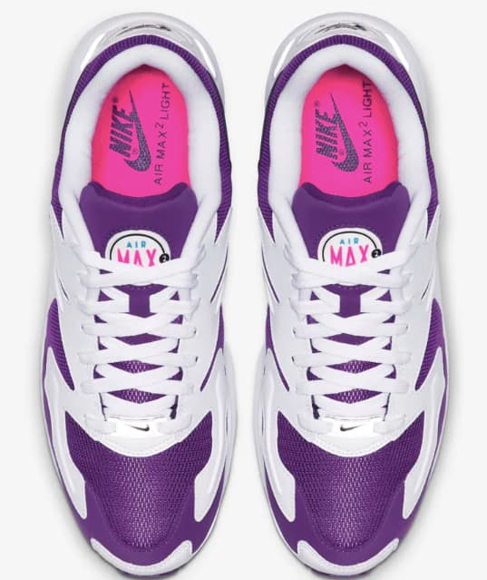 「AIR MAX2 LIGHT Purple Berry」のアッパー
