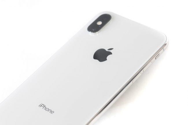 iPhone XS Max ホワイトの背面