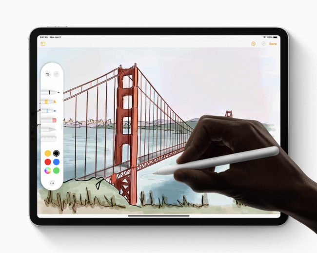 「iPadOS」でApple Pencilを使用