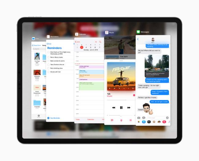 「iPadOS」のマルチウインドー・マルチタスク