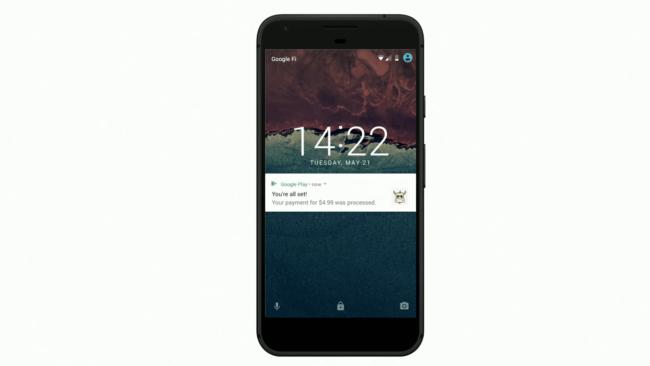 Google Play「Pending Transactions」の通知のイメージ