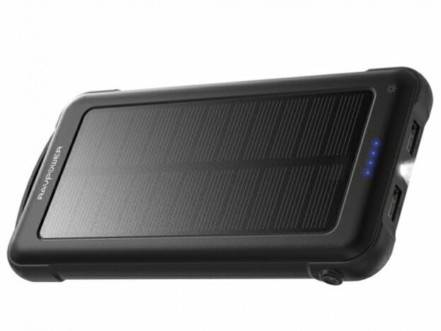 太陽光でも充電できる10000mAh大容量モバイルバッテリー「RP-PC082」が発売