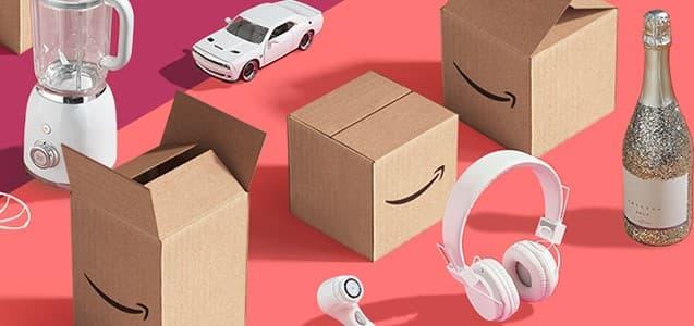 Amazonの箱と商品