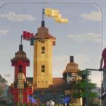 「Minecraft Earth」でつくった城