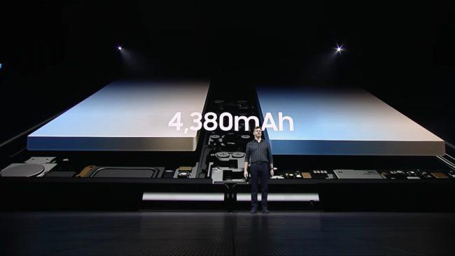 「Galaxy Fold」のバッテリー