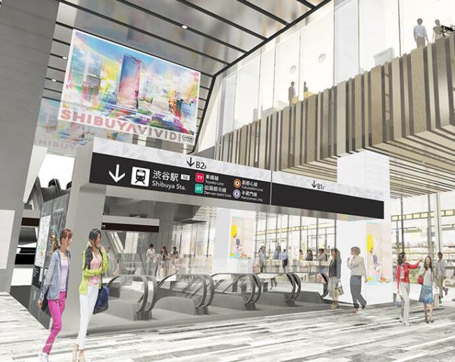 渋谷スクランブルスクエア アーバン・コア エスカレーター