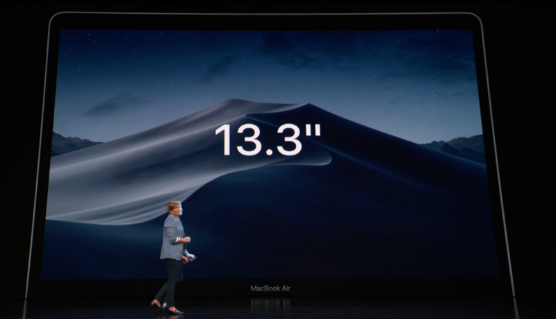 新型MacBook Airのベゼルとディスプレイ