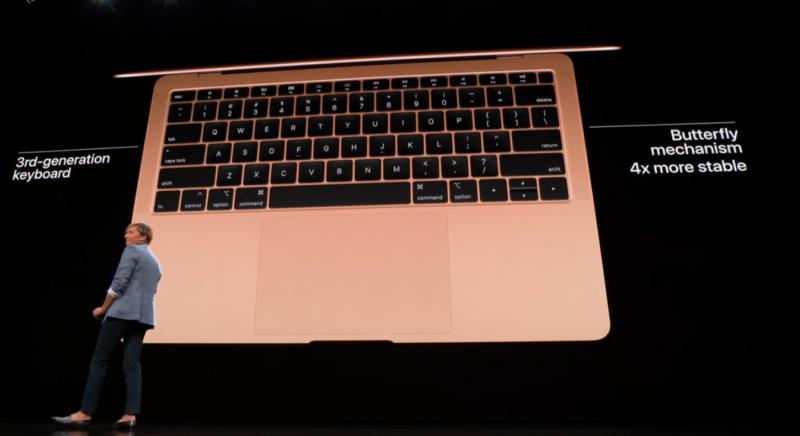 新型MacBook Airのキーボード