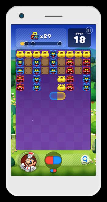 「ドクターマリオワールド」のゲーム画面イメージ