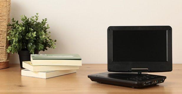 「OVER TIME 地デジチューナー搭載/TV録画機能付き9インチ液晶ポータブルDVDプレーヤー」の使用イメージ