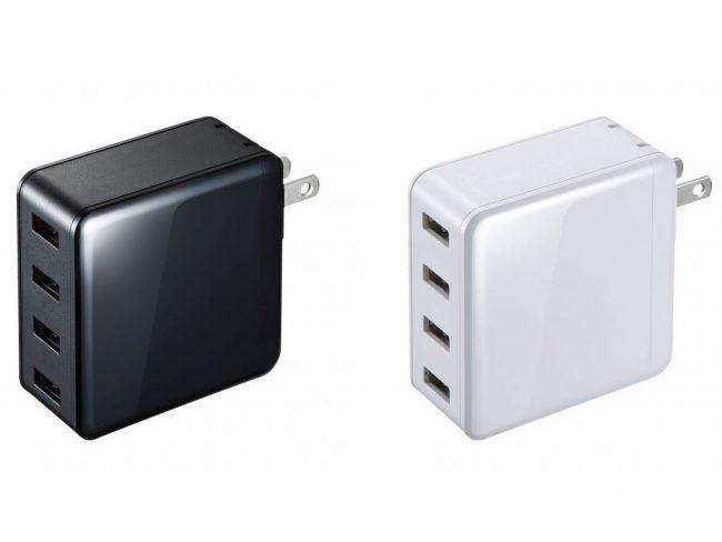 4台の機器を同時に充電できる高出力USB充電器「ACA-IP54」が発売!タブレットもOK